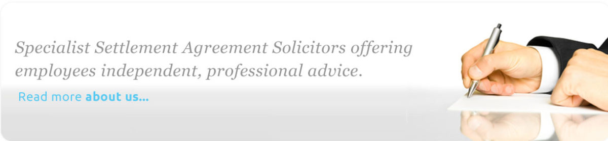 Employment Dispute Settlement Agreement Solicitors Lawyers